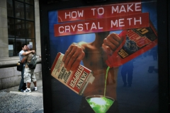 U.S Crystal Meth epidemic is being blamed for the increase in HIV cases amongst New Yorks gay community. Campaigners ask why Pseudoephedrine, a key ingredient, cannot be replaced in cold remedies by equally effective ingredients thus preventing the manufacture of crystal meth.Photographer Jez Coulson for Insight-Visual www.iv-photo.com