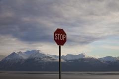 Alaska Stop sign