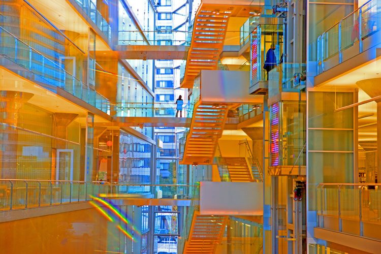 Vision of Learning Through Glass PM : Minneapolis Central Library