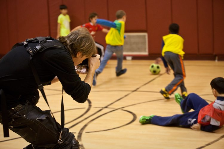 Jez Coulson making a Photograph : After School Soccer : USA
