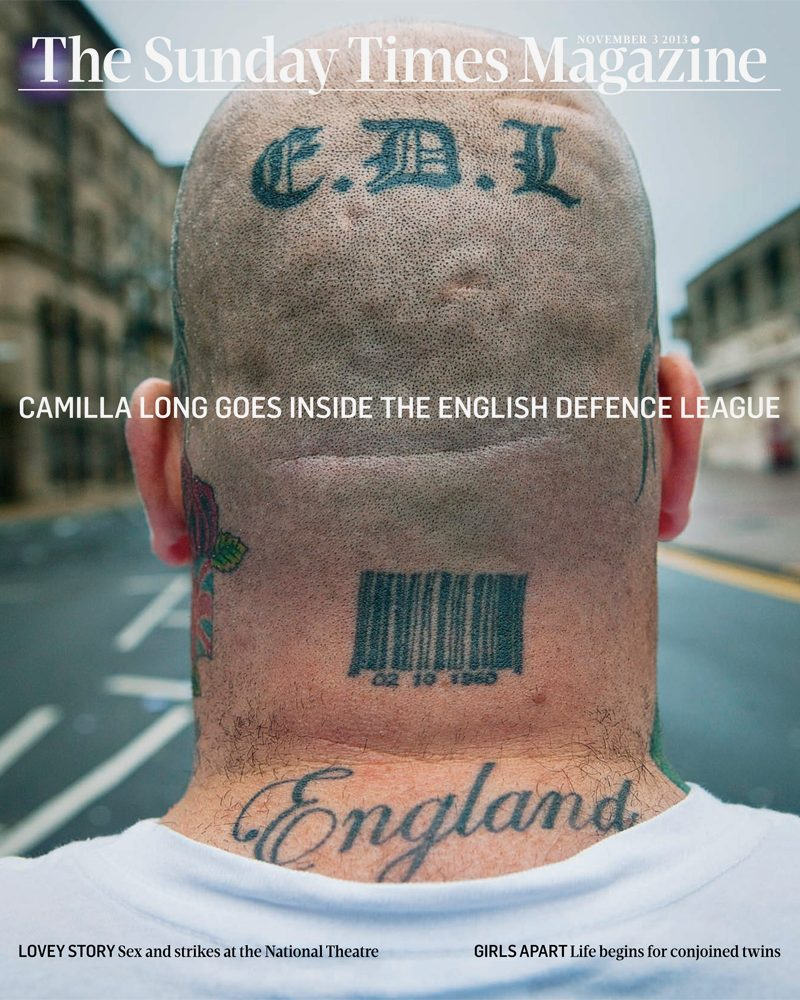 EDL Story on the Sunday Times Magazine Cover Photo by Jez Coulson : Shot in Bradford : UK