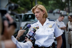 Photo: Jez Coulson / InsightCathy Lanier, the Washington Police Chiefwriter Holly Yeager in Washington DC, cell 202 257 8477 and holly.yeager@gmail.comMarisol Caceras a 12 year old girl was found dead by one of her parents as they returned from work. Police sealed off her apartment and the block around it. They put up miles of yellow tape.