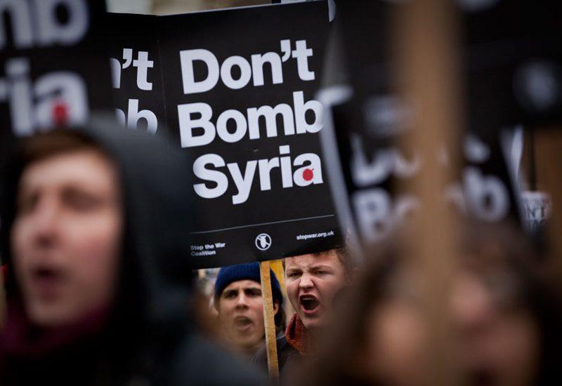 Dont Bomb Syria Demo : Whitehall : London