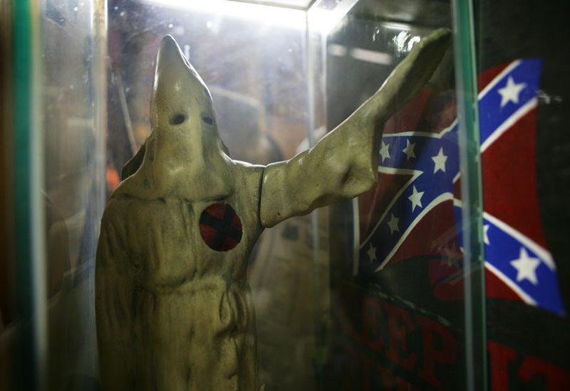 Confederate Battle Flag and the Klansman : Kennesaw : Georgia