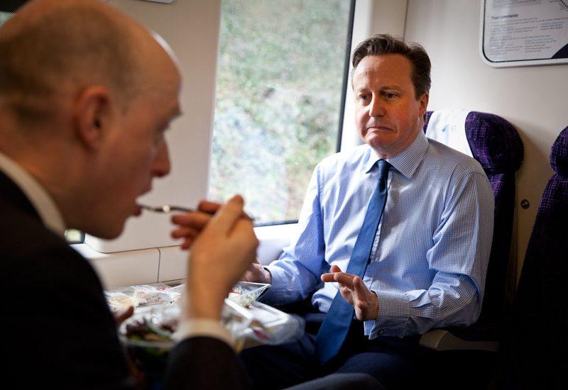 David Cameron Grim Joke Face : Train to London