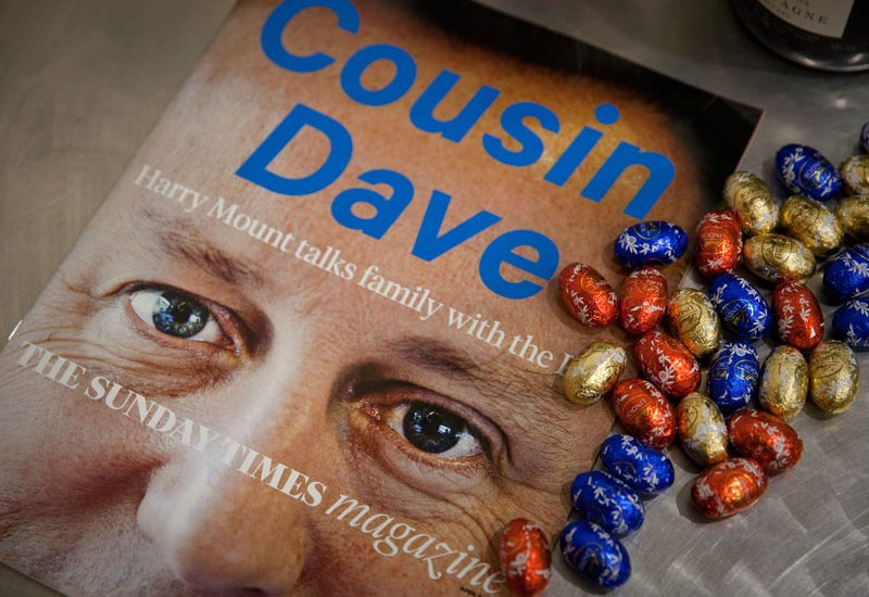 David Cameron by Jez Coulson on The Sunday Times Magazine Front Cover with Eggs