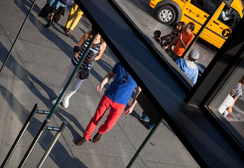 Red Blue Yellow : Meat Packing Apple Store : New York City