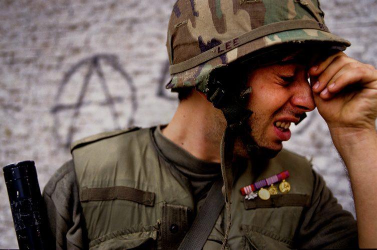 Weeping Soldier : Bosnia Civil War