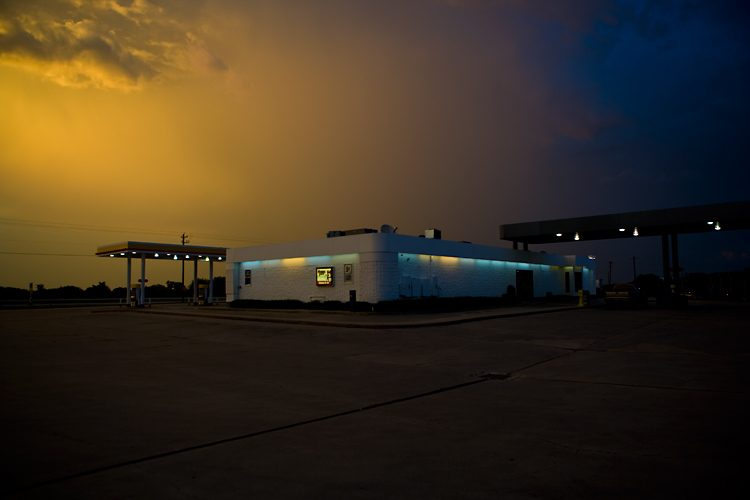 The Gas Station and the Sky : Highway 59 : Texas