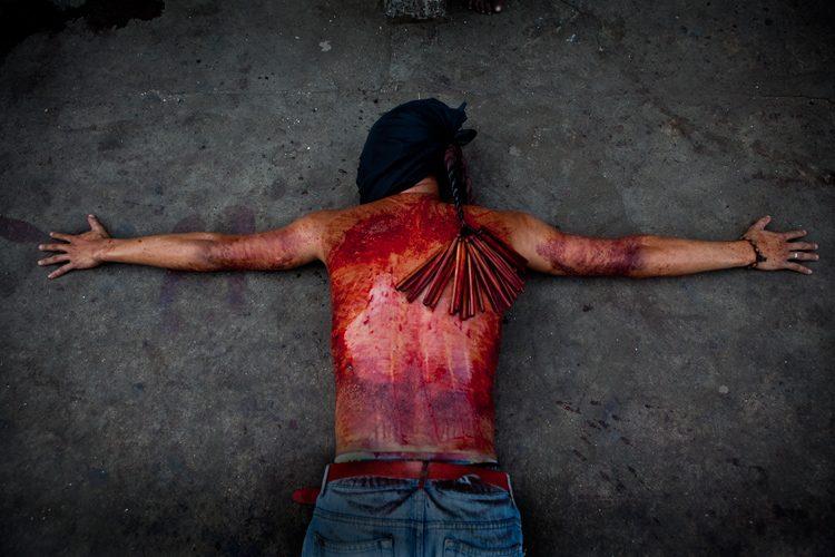 Holy Week Act of Penitence : Barangay Lourdes Angeles City : The Philippines