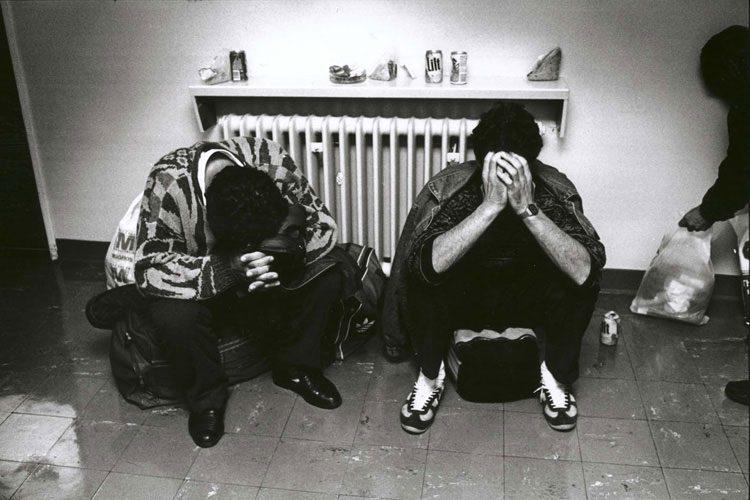 The Ghost of Tom Joad : Bosnian War Refugees at Heathrow : London