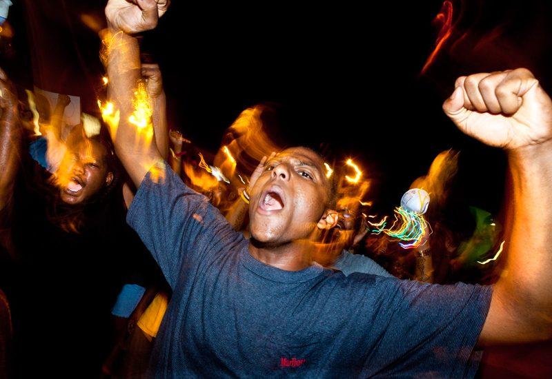 Burning Anger at the Police Shooting Of Michael Brown : Ferguson : Missouri