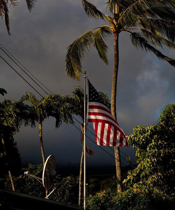 Dawn Flag : Waimanalo District : Oahu Hawaii