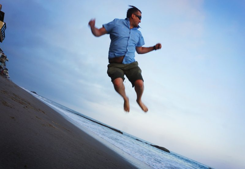 Flying Birthday Boy Bazza J : Malibu Beach : California