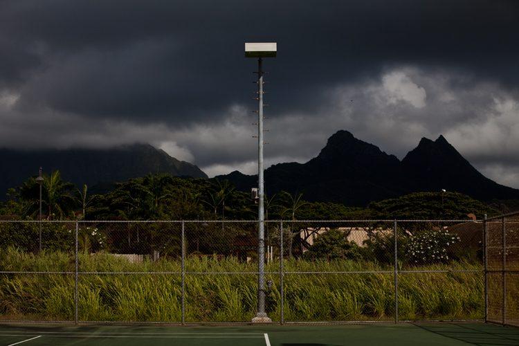 Storm Light : Waimanalo District Park : Oahu Hawaii