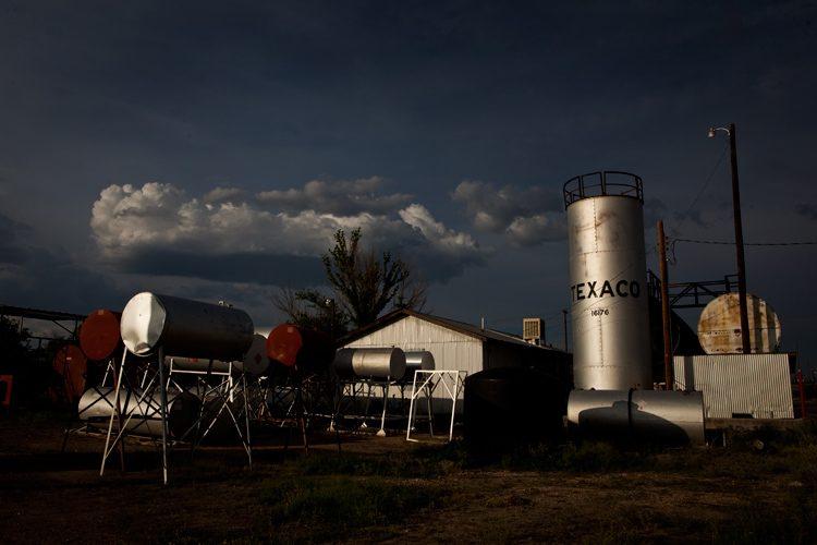 Marfa Fuel Tanks : Waiting for Rain in The High Desert : Texas
