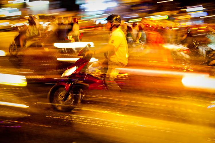 River of Motorbikes : Saigon : Vietnam