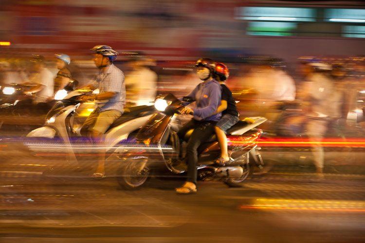 The Dream of the Sea of Bikes : District 1 Siagon : Vietnam