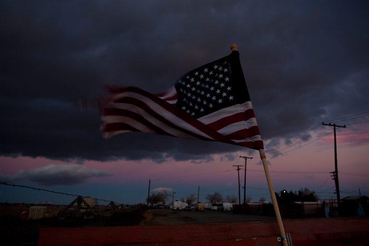 Flag in the Desert : Mojave : California