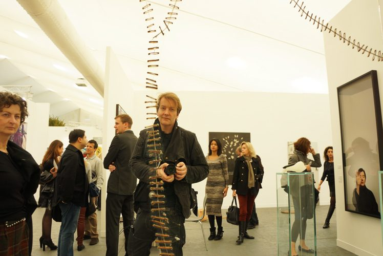 Jez Self Portrait at Frieze Art Fair 2013 : London : UK