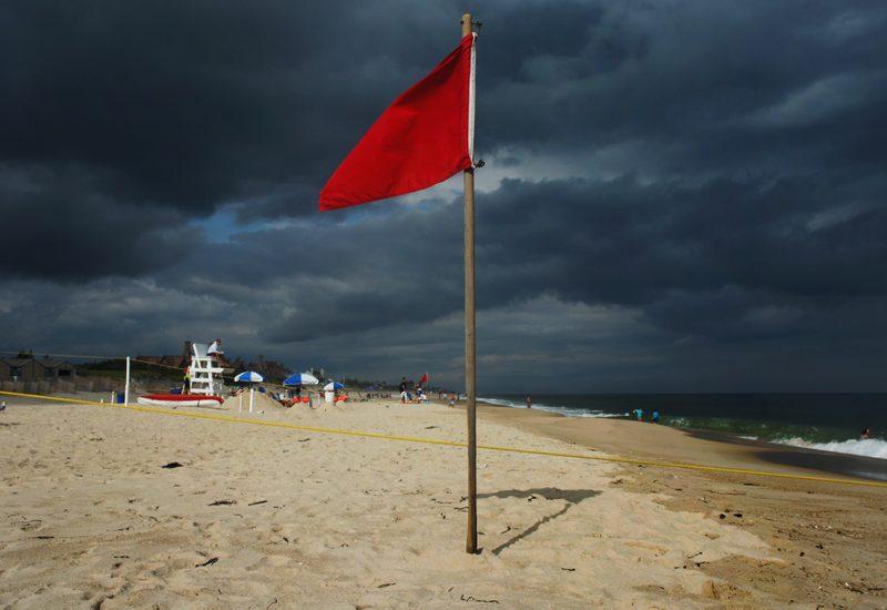 Red Flag : The Hamptons NY : USA