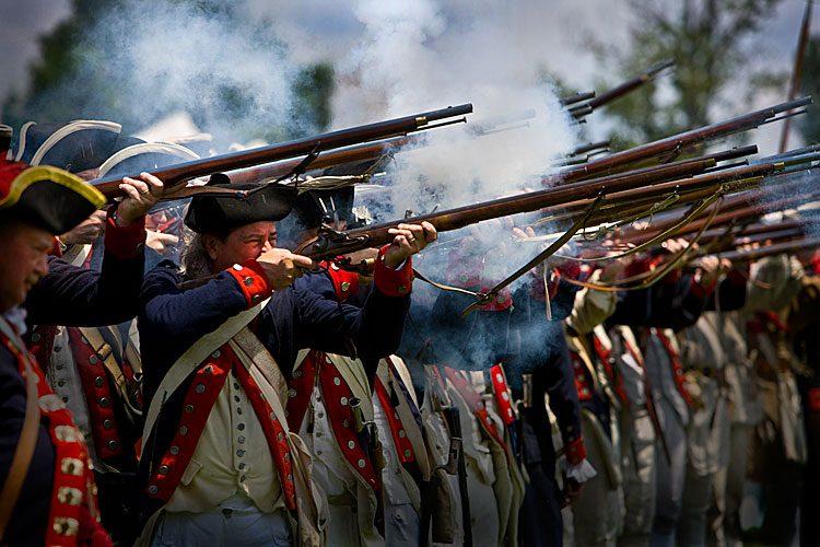 Independence Day : Revolutionary War Reenactment : Mt Vernon : Virginia