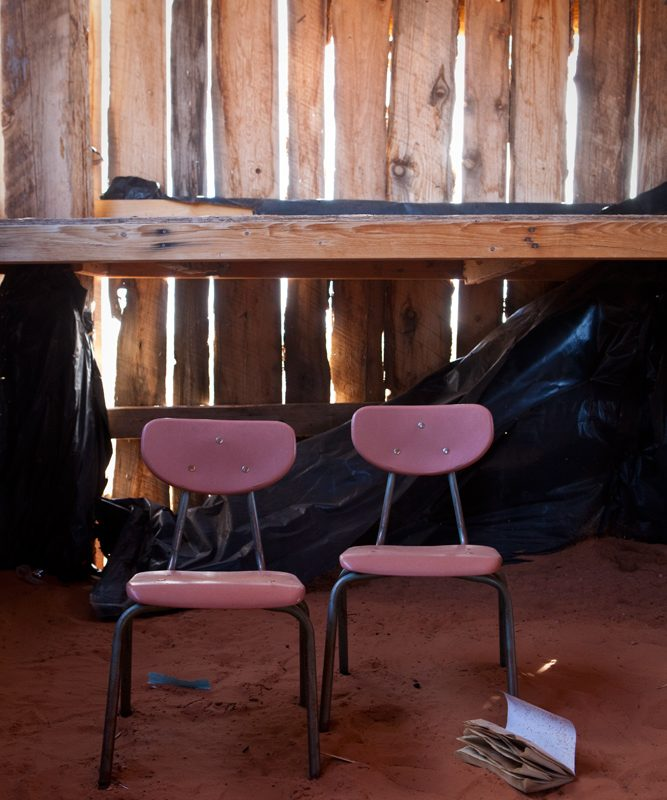 School Chairs : Abandoned Navajo Trading Post : Monument Valley