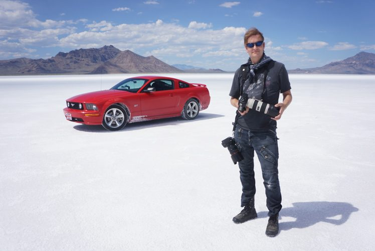 Jez Coulson World Land Speed Record : Bonneville Salt Flats Speed Track : Utah